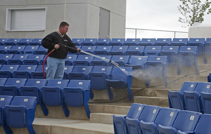 how to clean bleachers