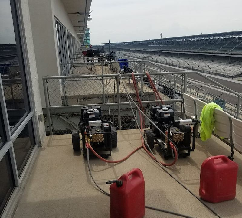 pressure cleaning stadium