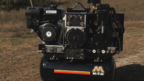 Using the Mi-T-M Air Compressor/Generator/Welder Combo.