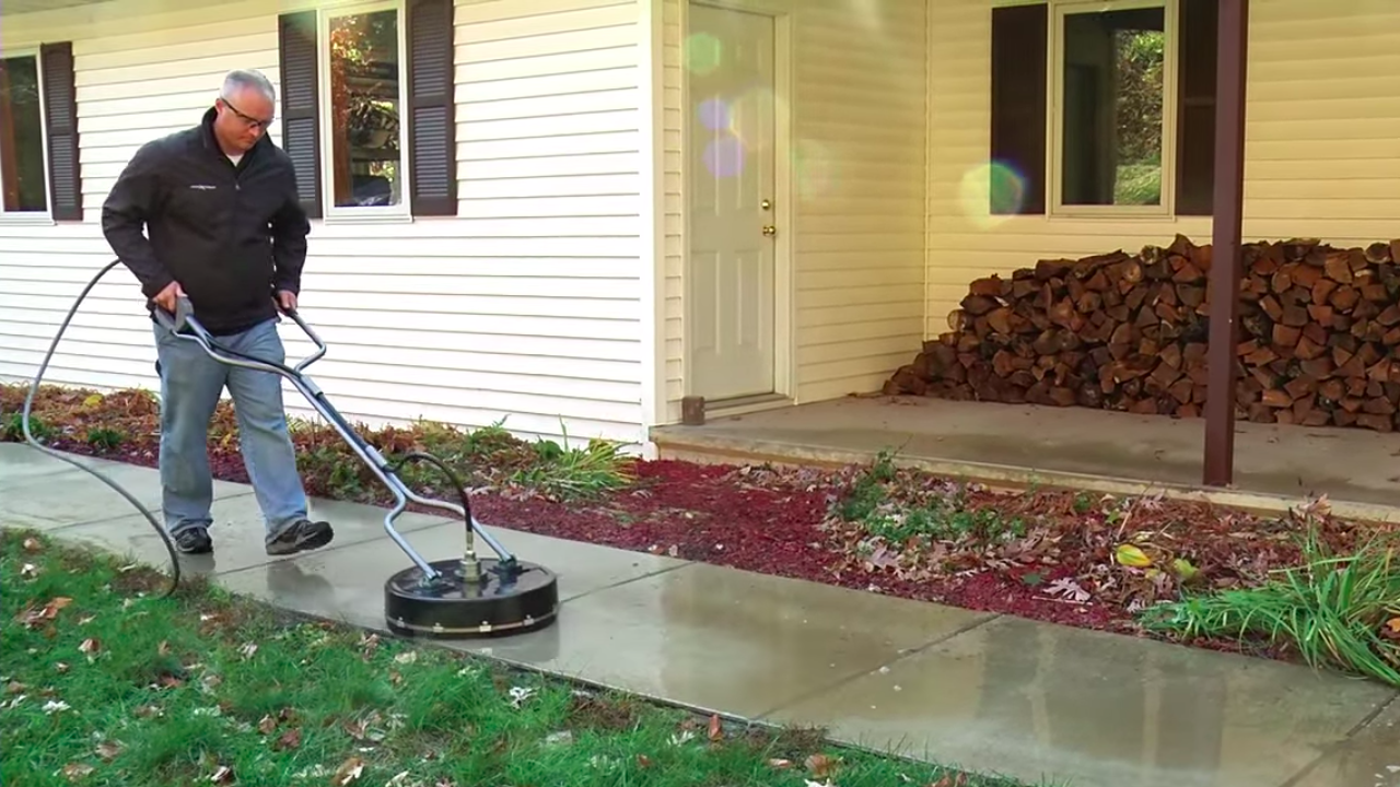 How To Use A Pressure Washer Surface Cleaner Accessory Mi T M