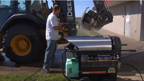 How to use a Hot Water Electric Pressure Washer.