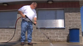 How to use a Hot Water Gas Pressure Washer.