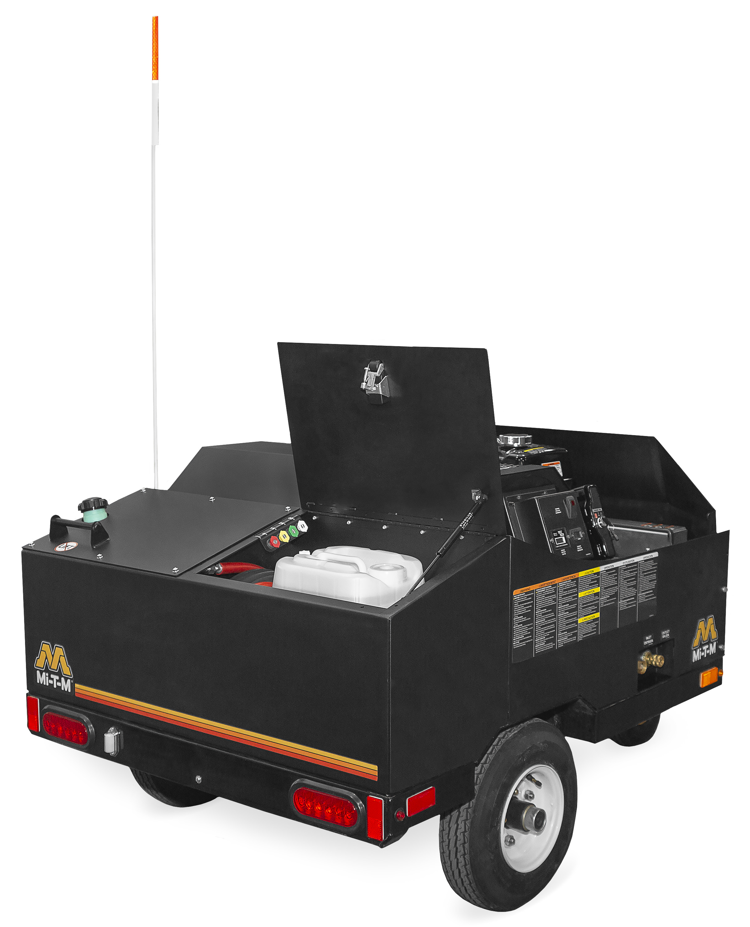 hot water pressure washer mini trailer