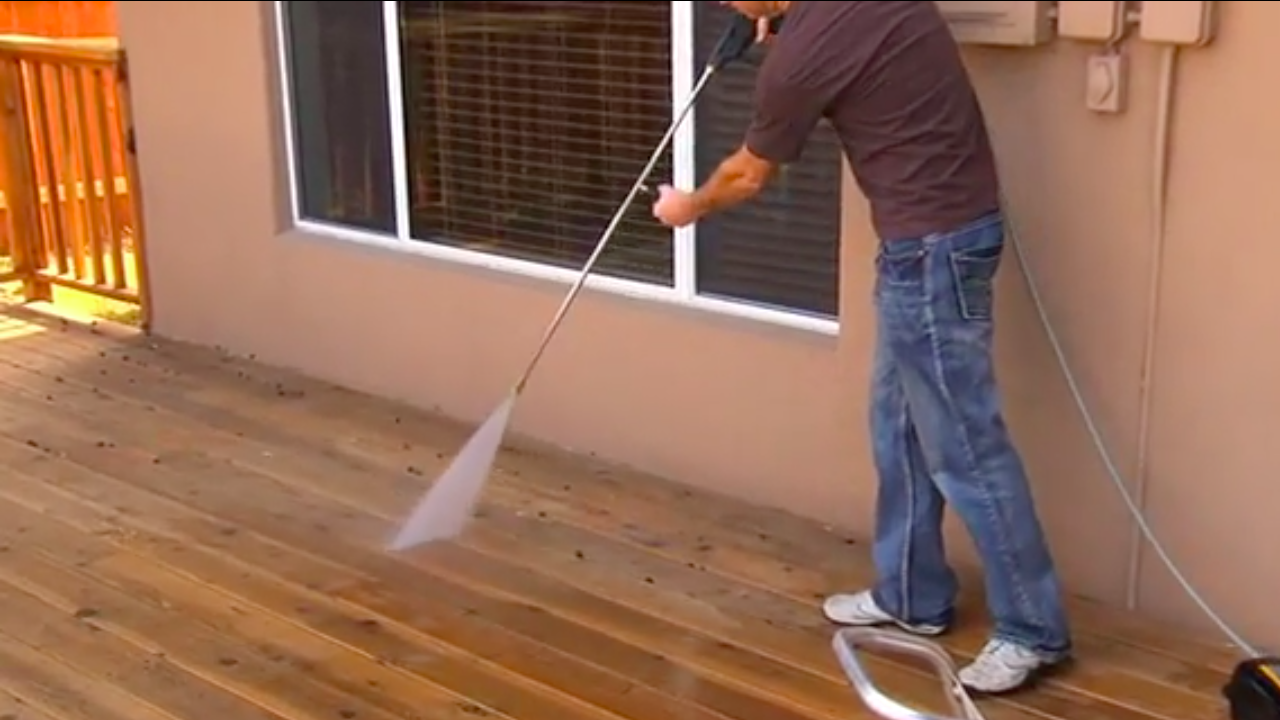 How To Properly Pressure Wash Deck How To Videos Mi T M