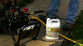 How to properly use detergent with your pressure washer.