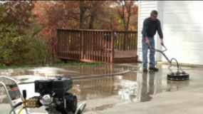 How to use a pressure washer surface cleaners.